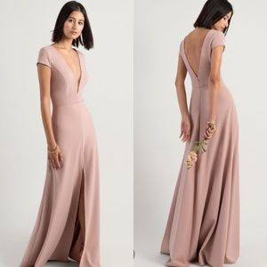 Jenny Yoo Cara Gown in Whipped Apricot NWOT